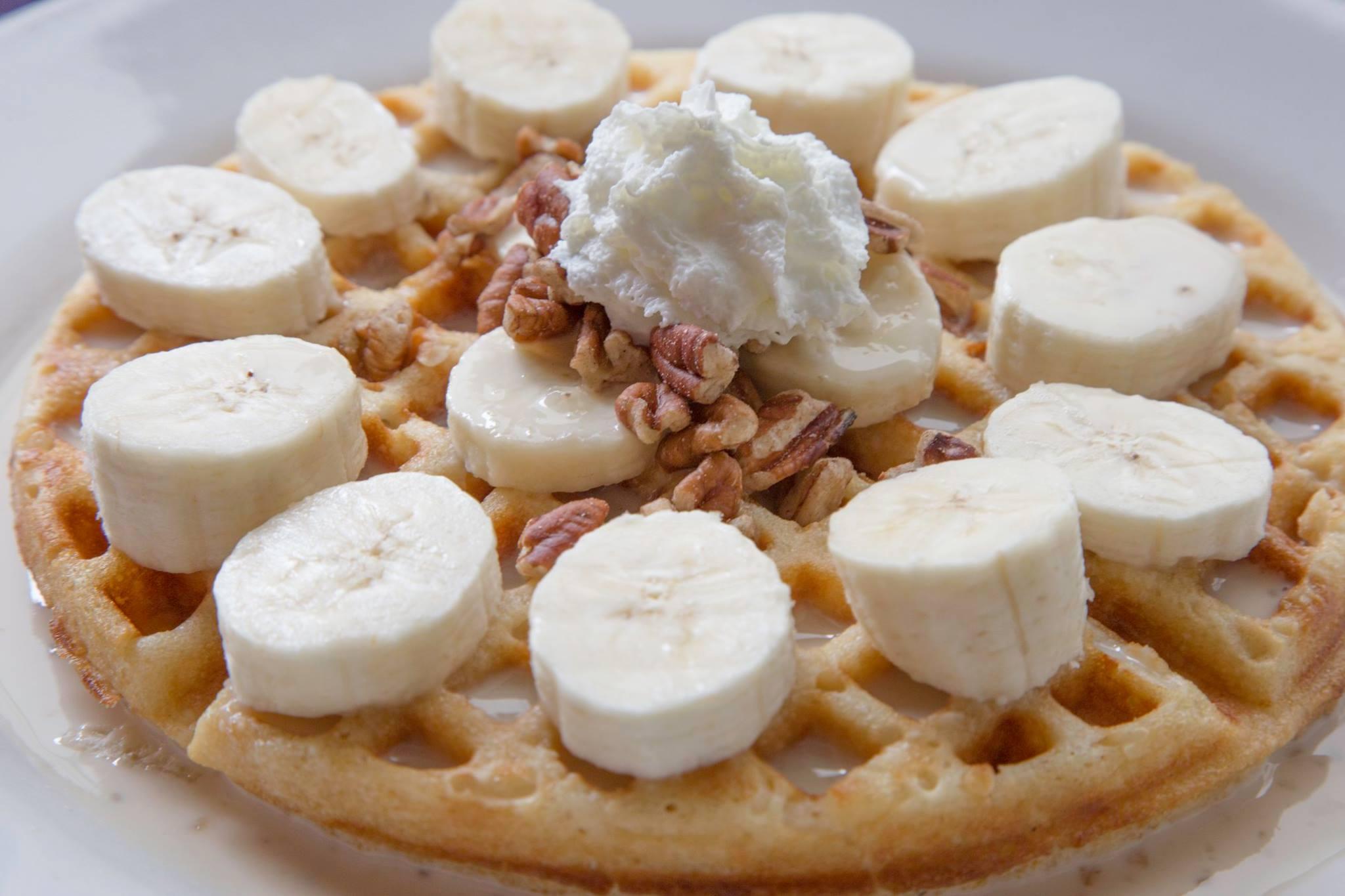 Waffle de plátano lateral